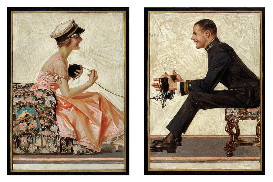 Lovebirds 1919 Painting
