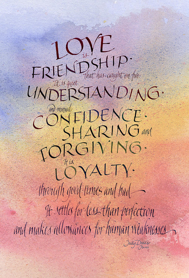 Lovefriendship Painting  - Lovefriendship Fine Art Print