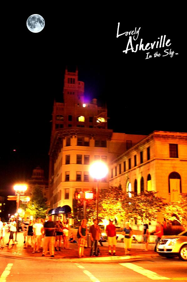 Lovely Asheville Night Downtown Photograph  - Lovely Asheville Night Downtown Fine Art Print