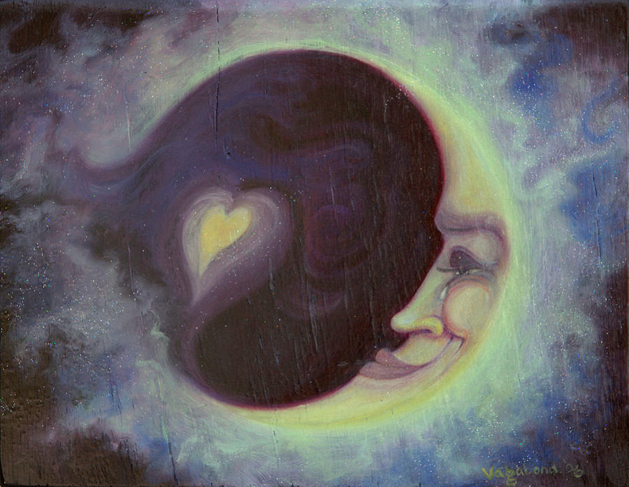 Lovermoon Painting  - Lovermoon Fine Art Print