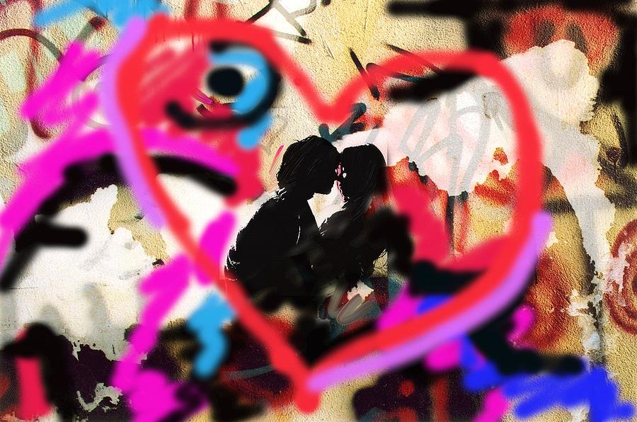 Lovers Painting  - Lovers Fine Art Print