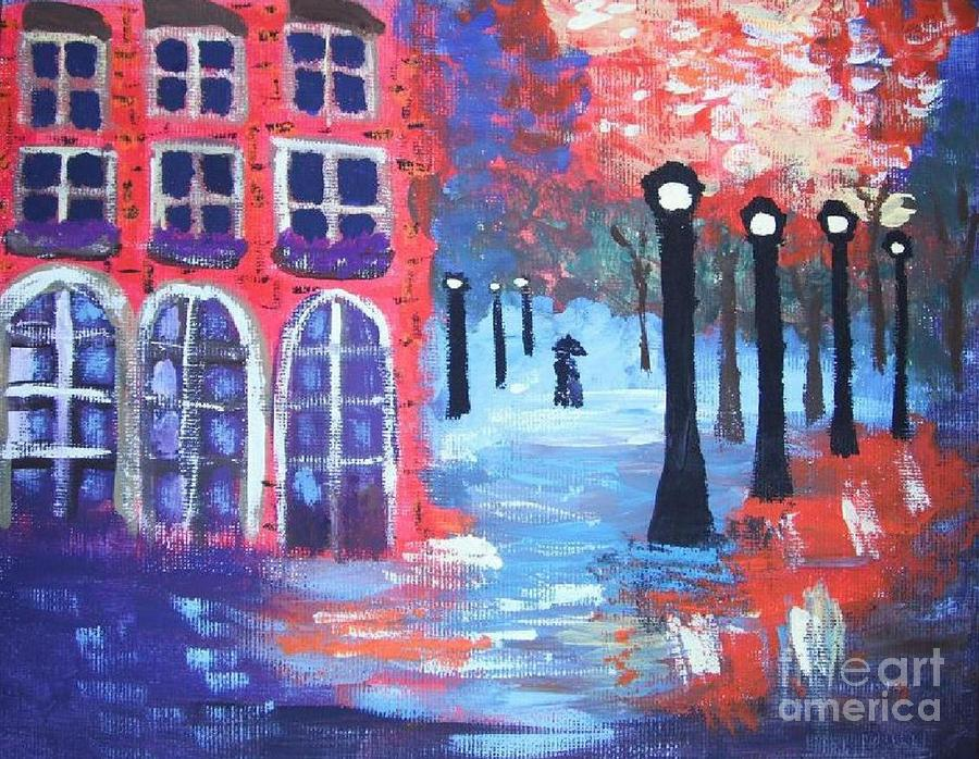 Lovers Lane Painting  - Lovers Lane Fine Art Print