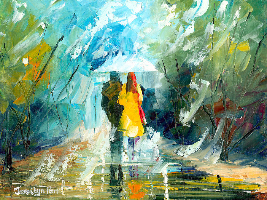 Lover s stroll painting by jessilyn park lover s stroll fine art