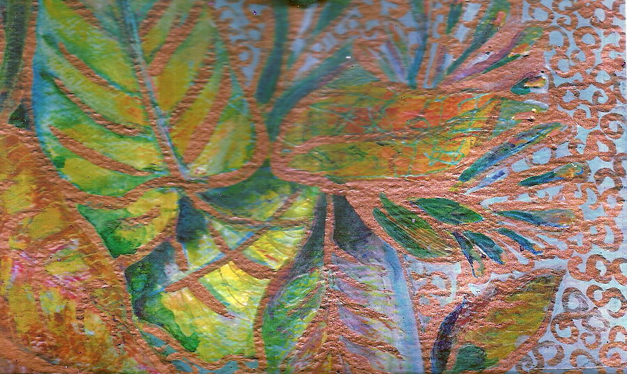 Loving Leaves  Painting  - Loving Leaves  Fine Art Print