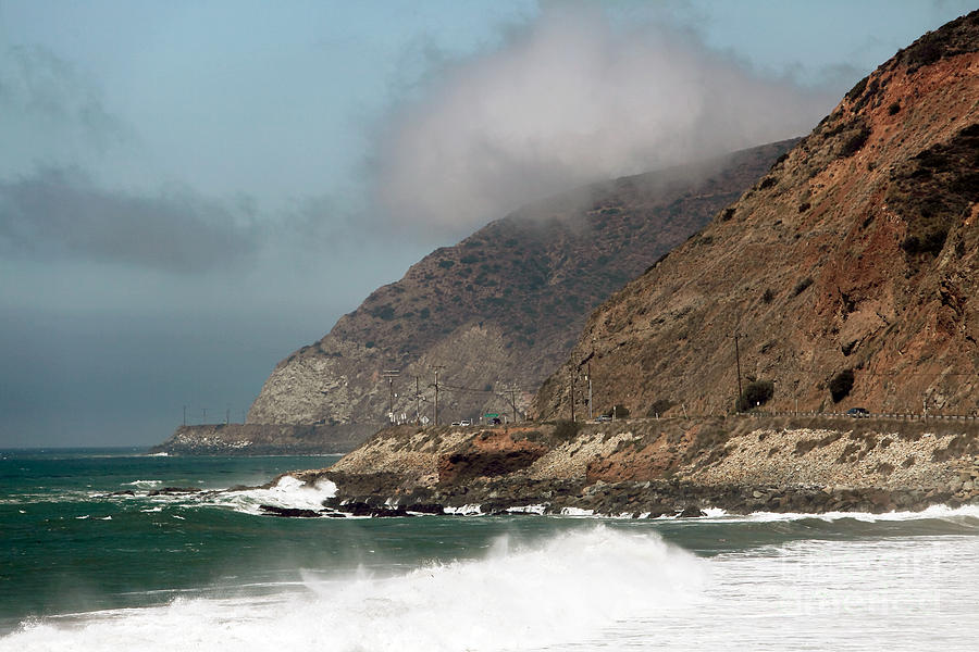 Low Clouds On The Pch Photograph - Low Clouds On The Pacific Coast Highway by John Rizzuto
