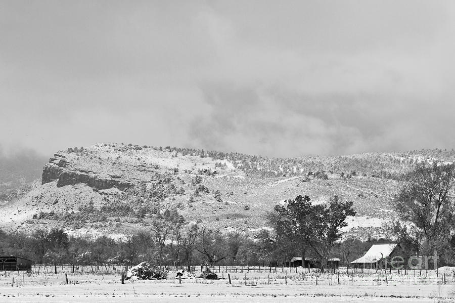Low Winter Storm Clouds Colorado Rocky Mountain Foothills 7 Bw Photograph