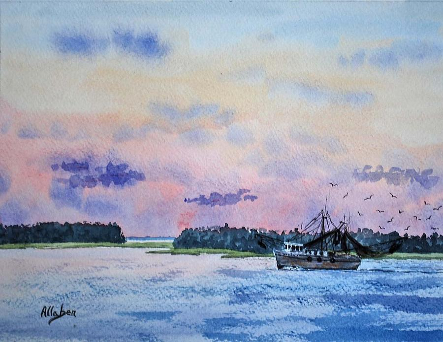 Lowcountry Shrimper Painting  - Lowcountry Shrimper Fine Art Print