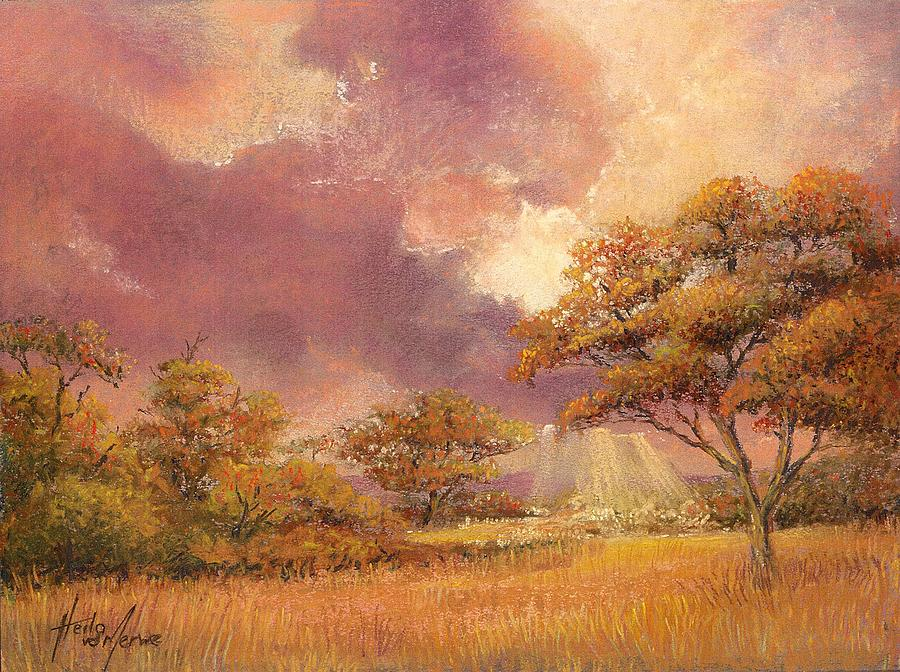 Lowveld Sunset Painting  - Lowveld Sunset Fine Art Print