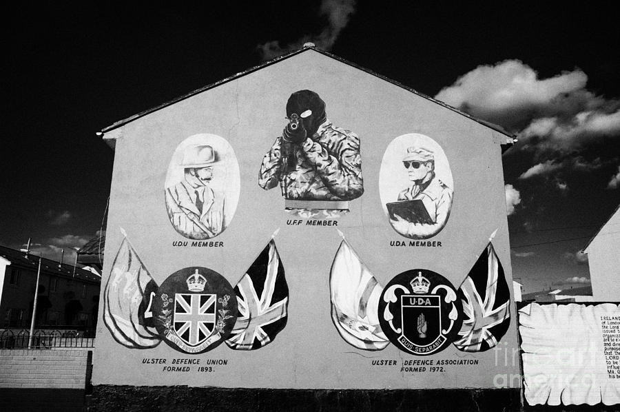 Loyalist Protestant Mural Uda Northern Ireland Photograph