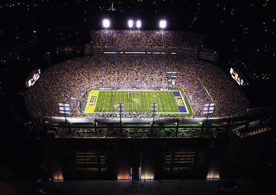 Lsu Aerial View Of Tiger Stadium Photograph  - Lsu Aerial View Of Tiger Stadium Fine Art Print