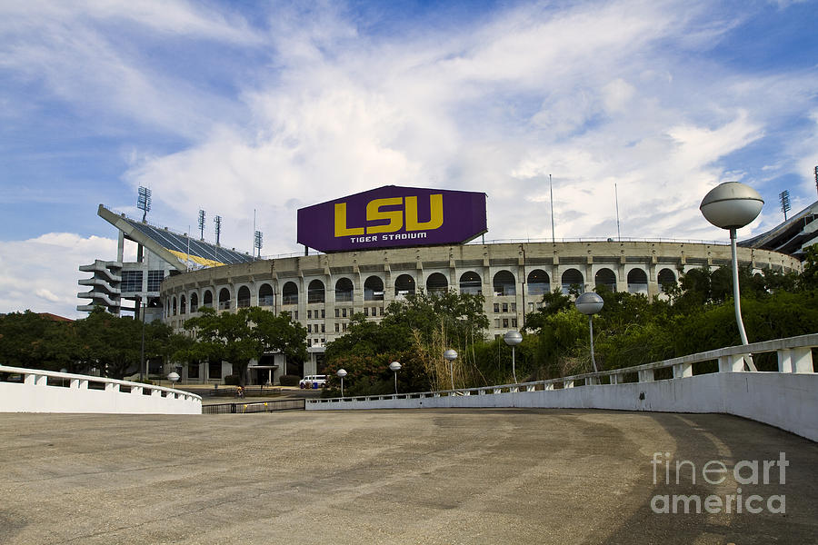 Lsu Tiger Stadium Photograph  - Lsu Tiger Stadium Fine Art Print