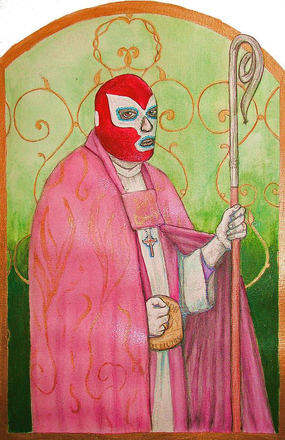 Luchador De La Fey Painting