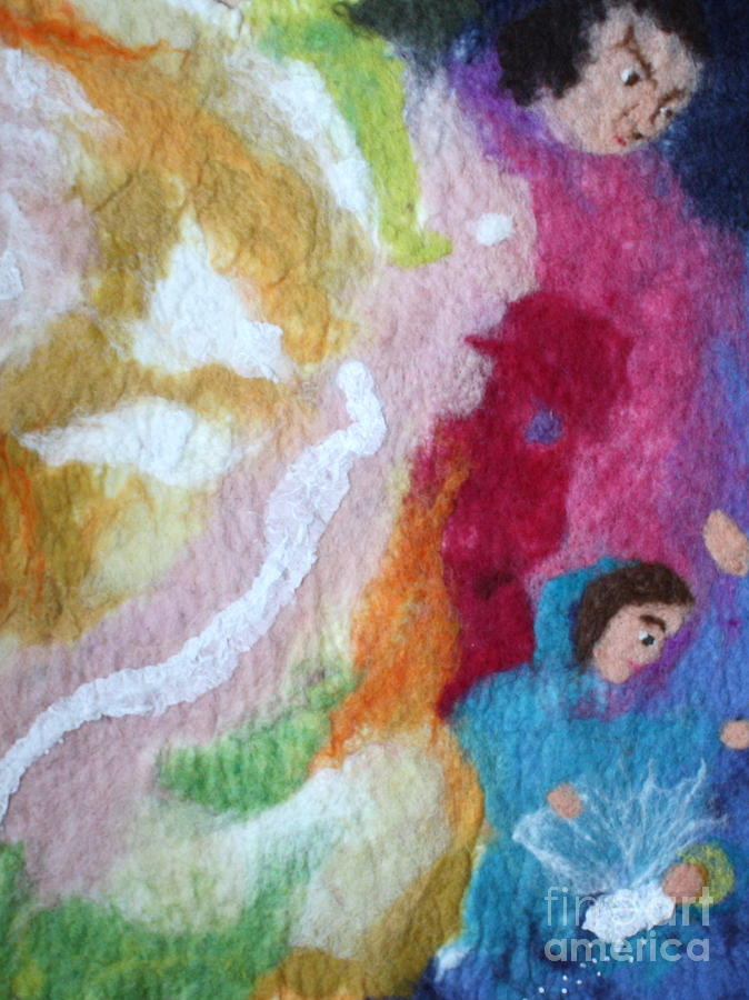 Lucifer And Ahriman At The Birth Of Christ Tapestry - Textile