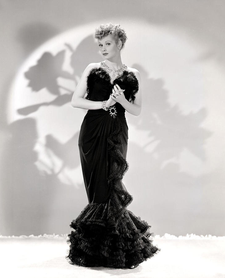 Lucille Ball Models A Lovely Black Photograph  - Lucille Ball Models A Lovely Black Fine Art Print