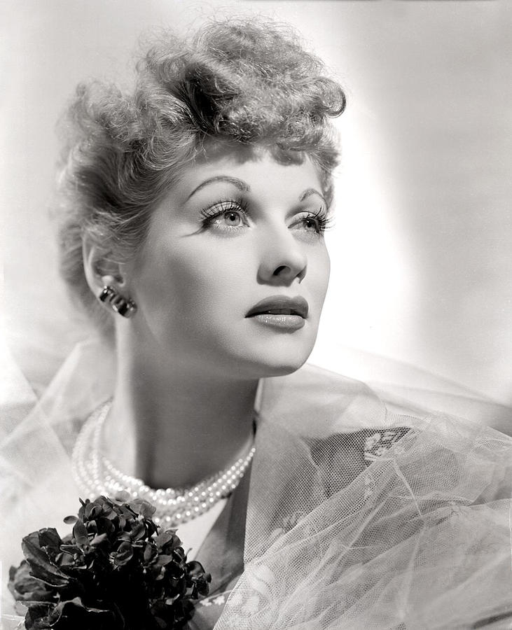 Lucille Ball Portrait With Gauze, 1940s Photograph  - Lucille Ball Portrait With Gauze, 1940s Fine Art Print