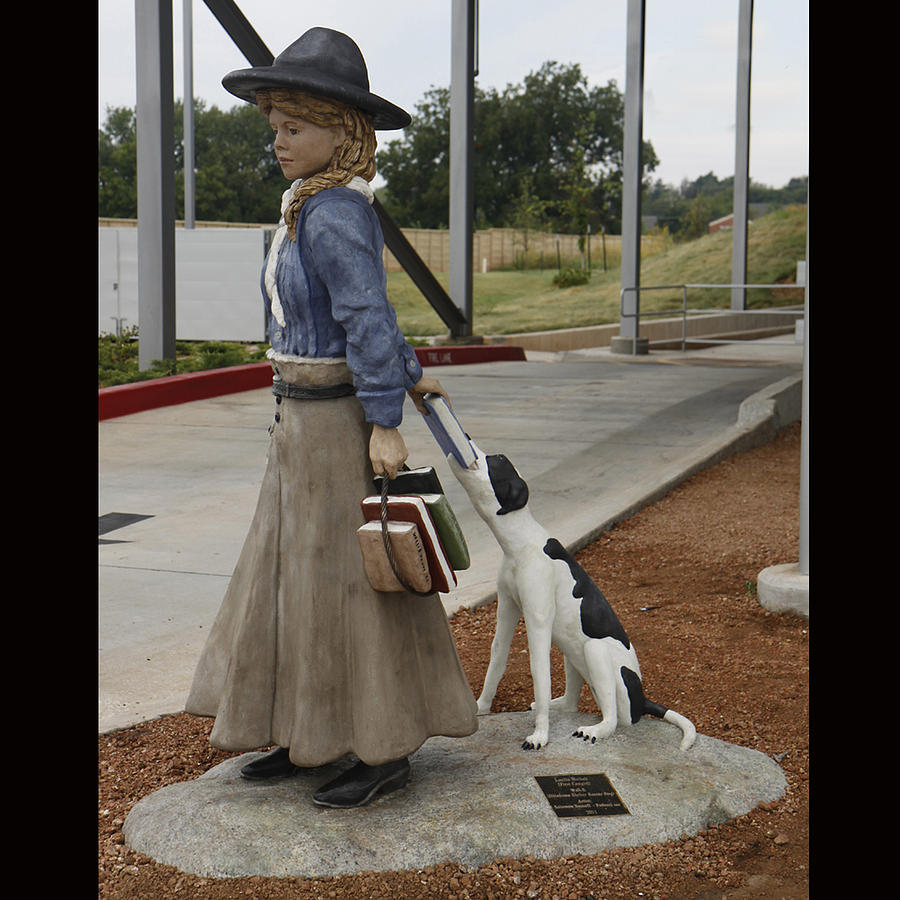 Lucille Mulhall  America First Cowgirl  And Walle   Shelter Rescue Sculpture
