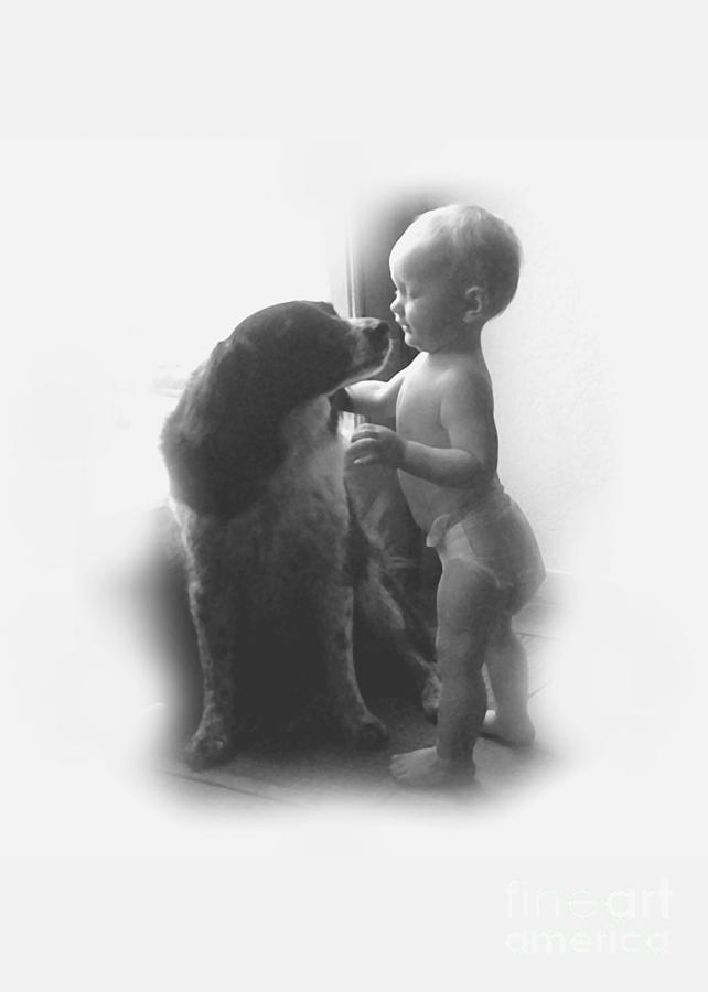 Lucy Kisses In Black And White Photograph  - Lucy Kisses In Black And White Fine Art Print