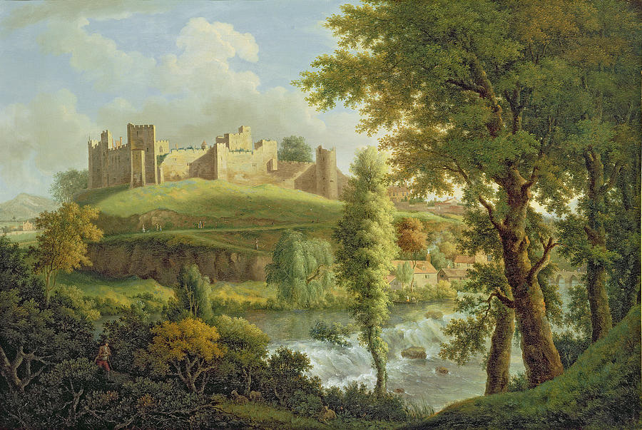 Ludlow Castle With Dinham Weir Painting  - Ludlow Castle With Dinham Weir Fine Art Print