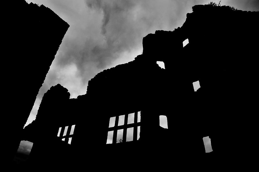 Ludlow Storm Threatening Skies Over The Ruins Of A Castle Spooky Halloween Photograph