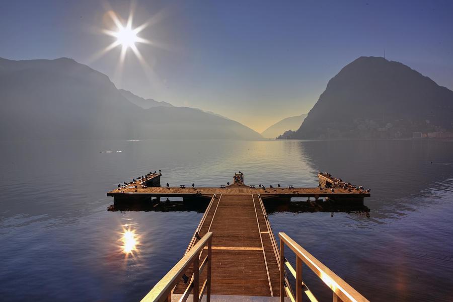 Dock Photograph - Lugano by Joana Kruse