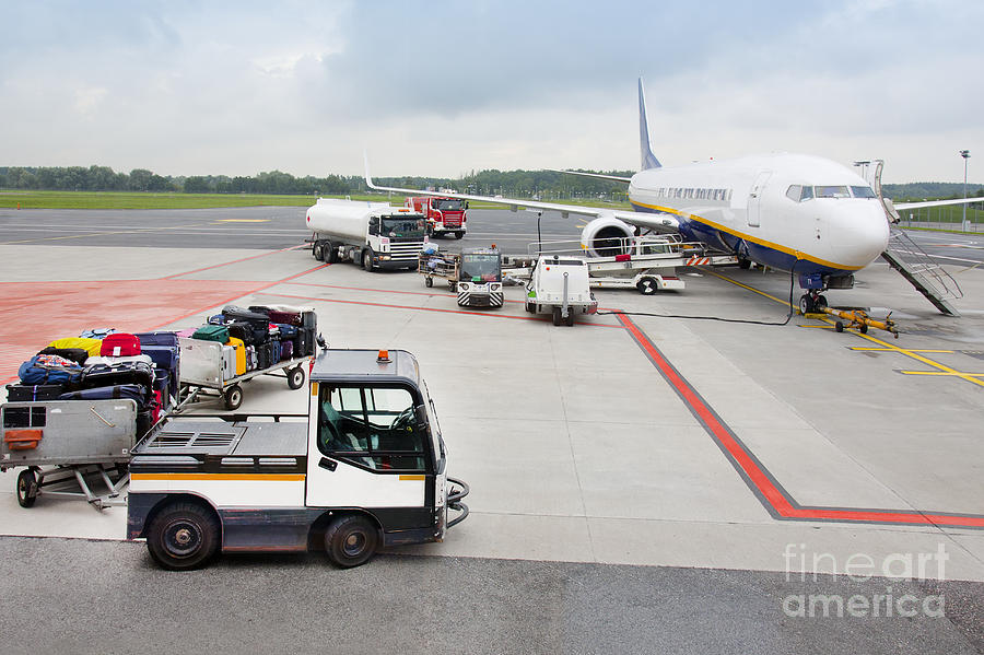 Luggage Transported To An Airprot Photograph