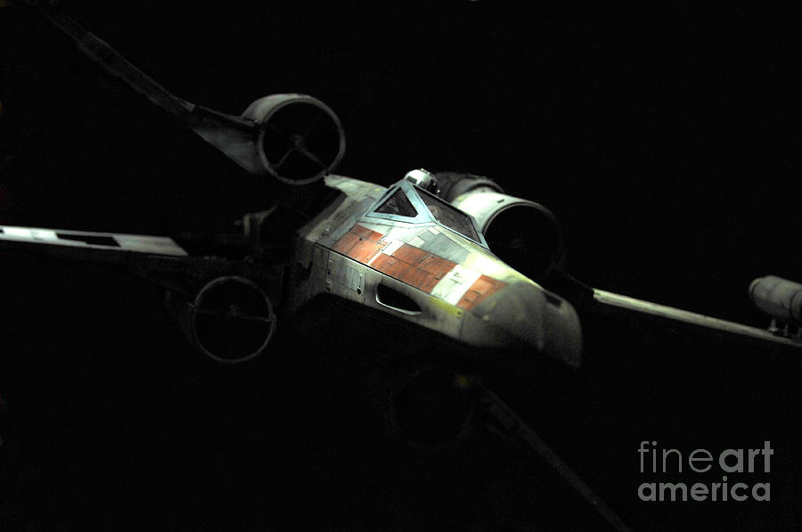 Lukes Original X-wing Photograph  - Lukes Original X-wing Fine Art Print