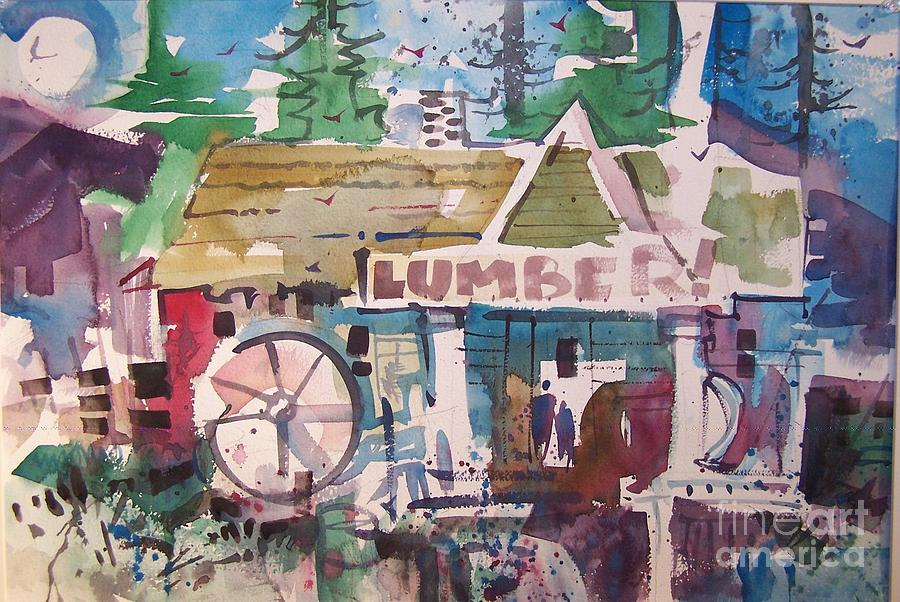 Lumber Painting - Lumber Mill by Micheal Jones