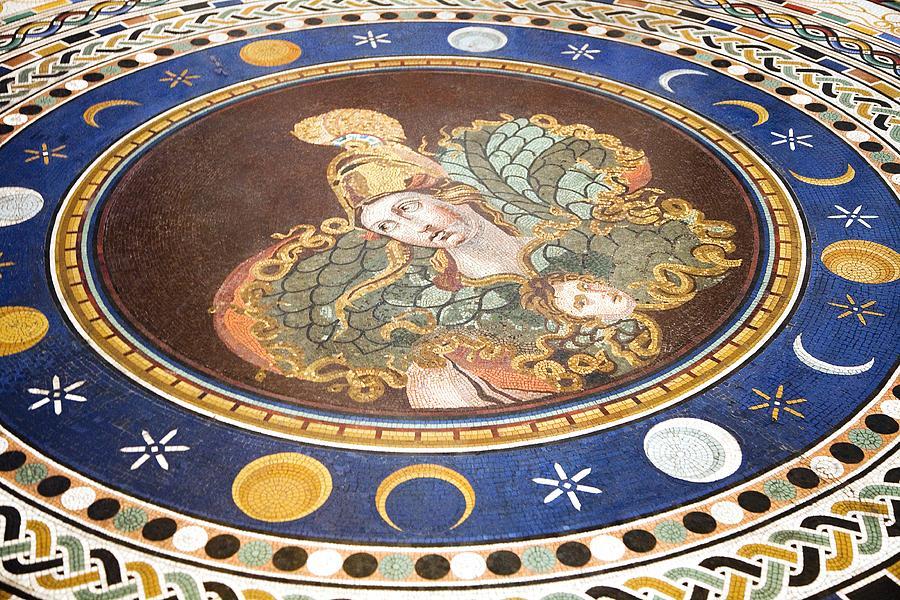 Lunar Phases, 3rd Century Roman Mosaic Photograph
