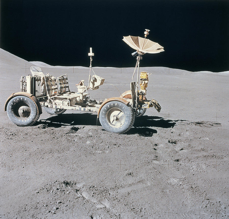 Lunar Vehicle On The Surface Of The Moon Photograph  - Lunar Vehicle On The Surface Of The Moon Fine Art Print