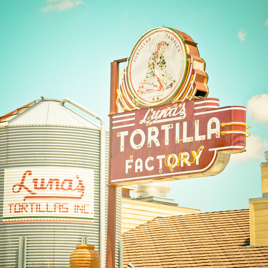 Lunas Silo And Sign Photograph