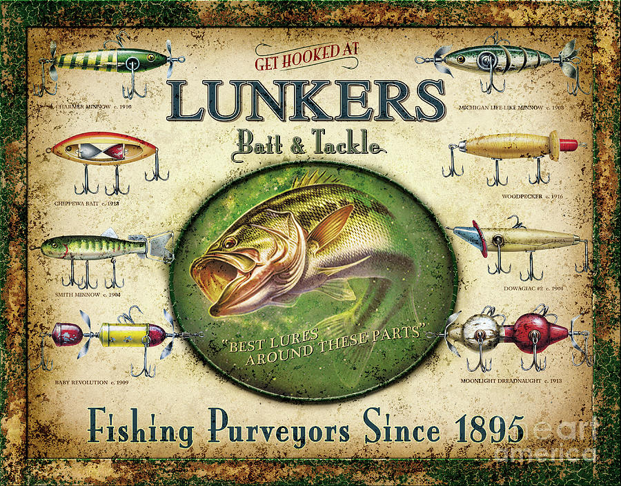 Lunkers Bait And Tackle Painting
