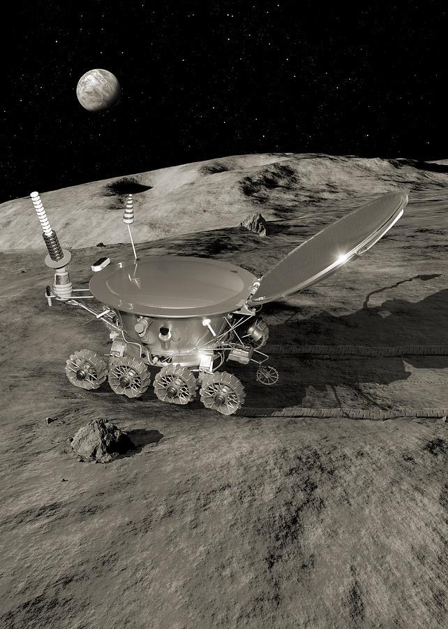 Lunokhod 1 Lunar Rover, Artwork Photograph by Detlev Van ...