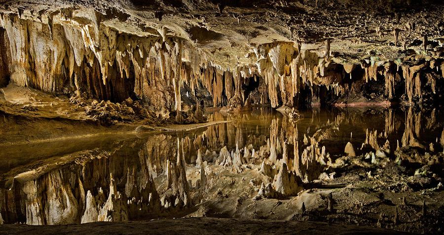 Luray Caverns - Virginia - Reflections At Dream Lake Photograph