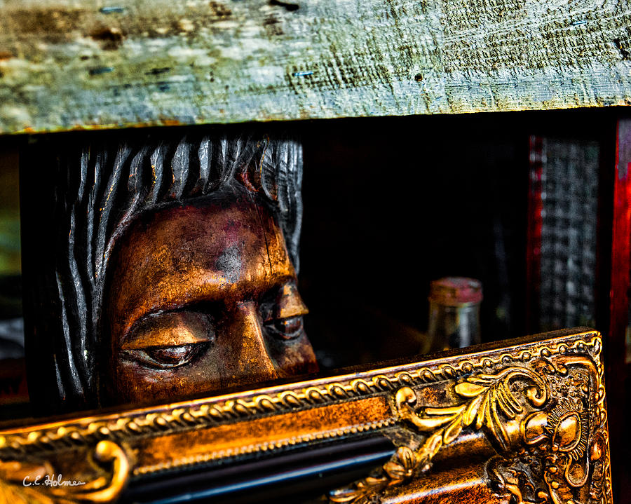 Statue Photograph - Lurking by Christopher Holmes