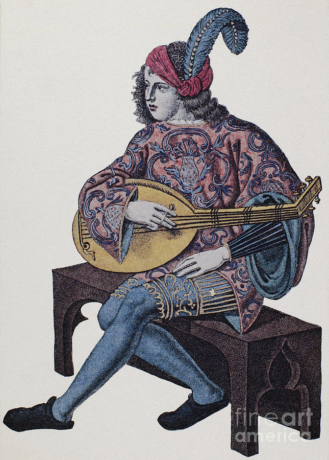 Lute Player, 1839 Photograph  - Lute Player, 1839 Fine Art Print
