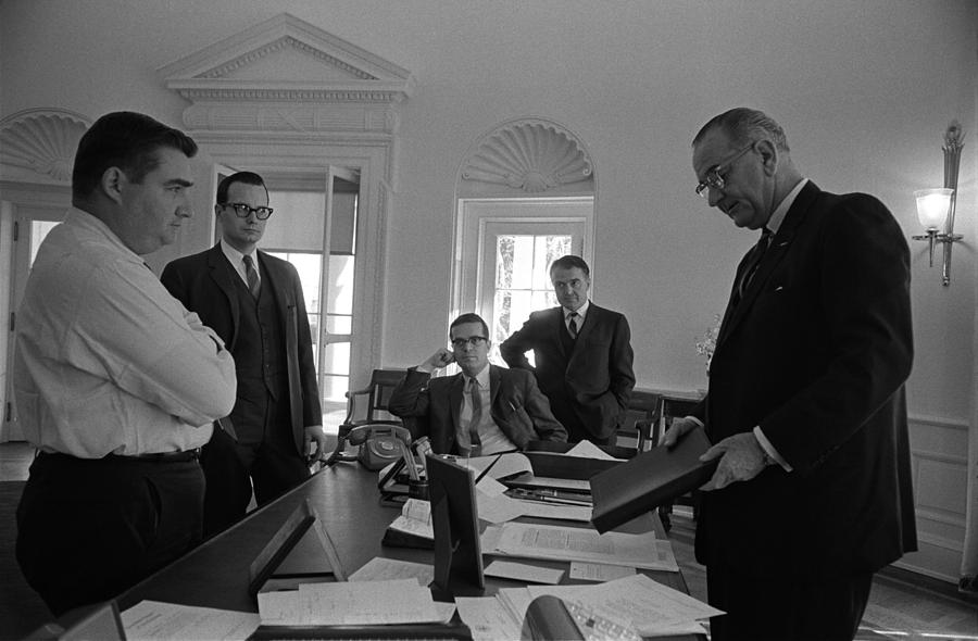 Lyndon Johnson With Former Kennedy Photograph