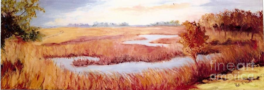 Lynnes Marsh Painting  - Lynnes Marsh Fine Art Print