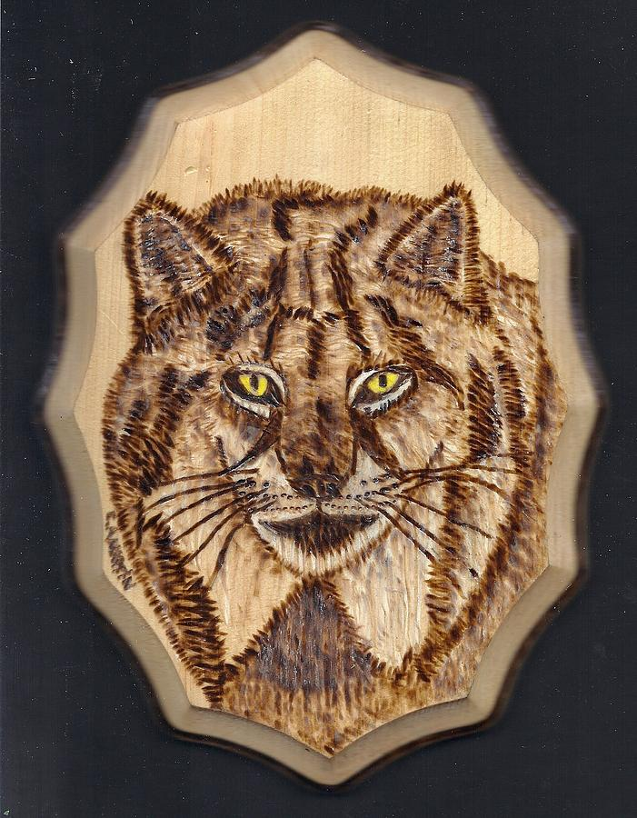 Pyrography Pyrography - Lynx by Clarence Butch Martin