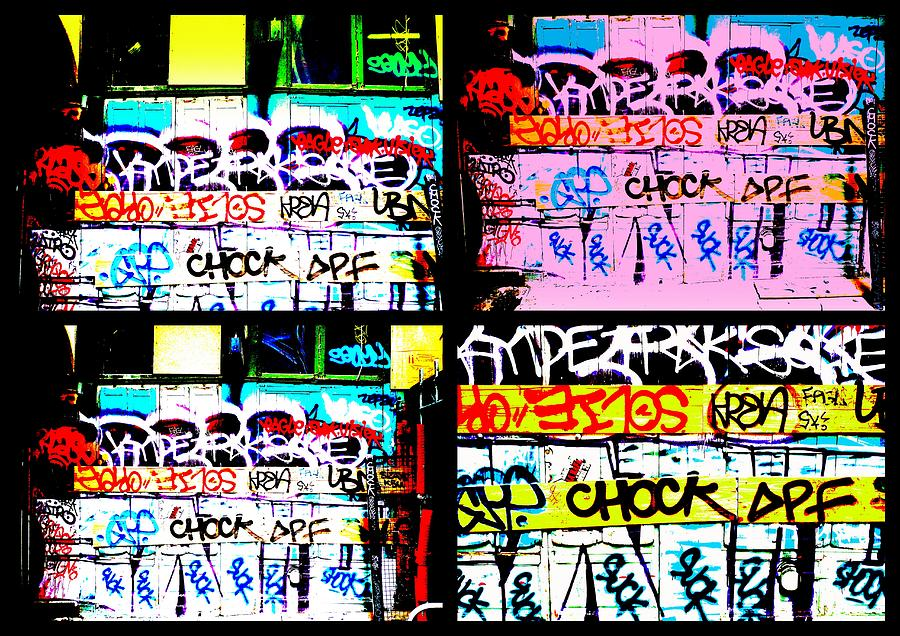 Lyon Graffiti Walls Digital Art  - Lyon Graffiti Walls Fine Art Print