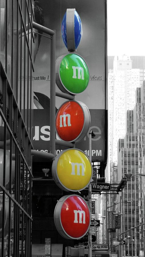 M And Ms In New York City Photograph