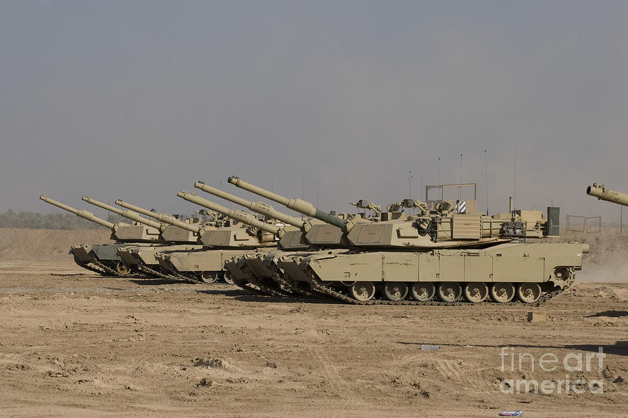 M1 Abrams Tanks At Camp Warhorse Photograph