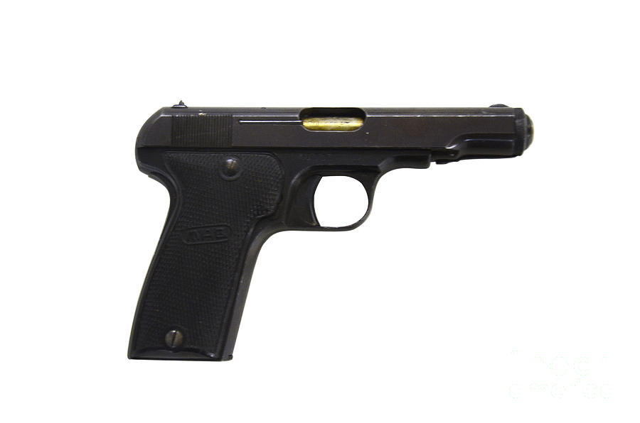 Mab Model D French Police Issue Pistol Photograph