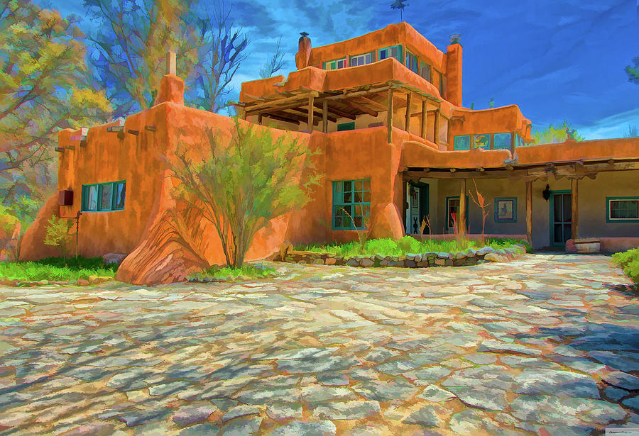 mabel dodge luhan house as oil by charles muhle. Cars Review. Best American Auto & Cars Review