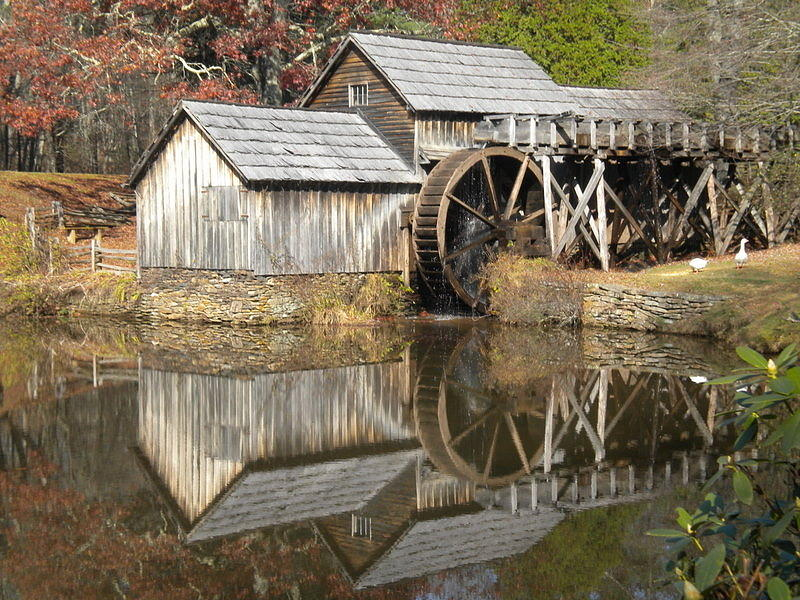 Mabry Mill Reflection Photograph
