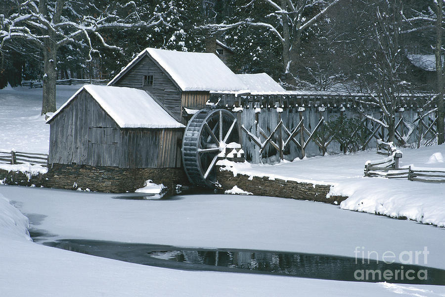 Mabry Mill Winter Photograph  - Mabry Mill Winter Fine Art Print