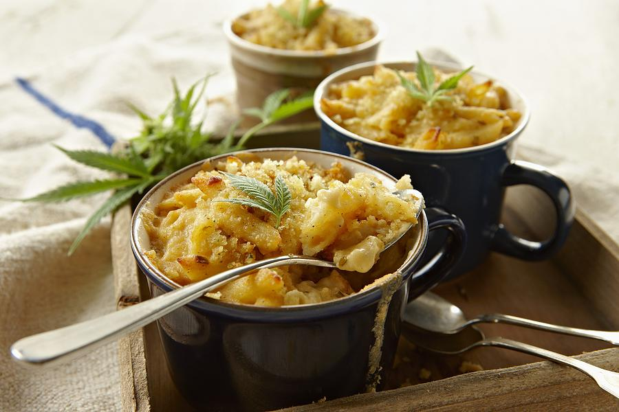 Macaroni And Cheese Infused With Marijuana Photograph