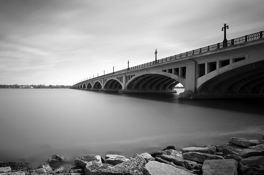 Macarthur Bridge To Belle Isle Detroit Michigan Photograph  - Macarthur Bridge To Belle Isle Detroit Michigan Fine Art Print