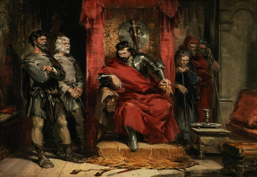 Macbeth Instructing The Murderers Employed To Kill Banquo Painting  - Macbeth Instructing The Murderers Employed To Kill Banquo Fine Art Print