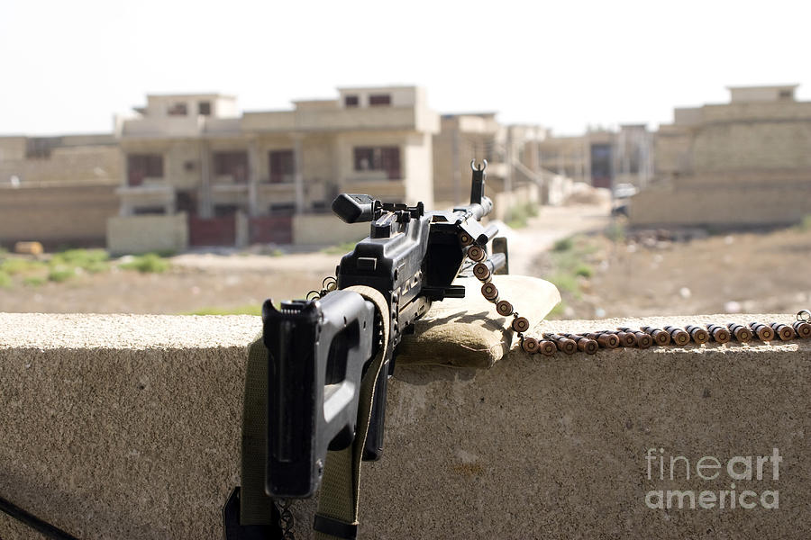 Machine Gun Post At A Prison Photograph