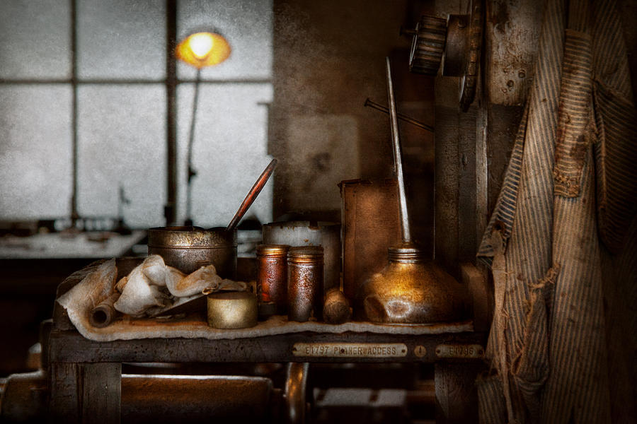 Machinist - Tool - Got Oil  Photograph  - Machinist - Tool - Got Oil  Fine Art Print